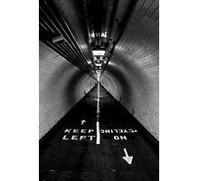 Keep Left Photographic Print