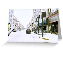 """A Cold and Snowy Day in Downtown Knoxville, Tennessee""... prints and products Greeting Card"
