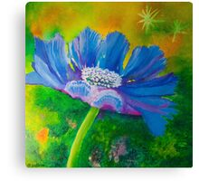 Vibrant Blue Flower Canvas Print