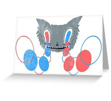 Canis Lupus Hypnosis Greeting Card