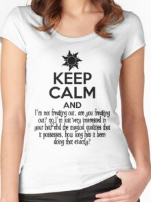 Keep Calm and Don't Freak Out Women's Fitted Scoop T-Shirt