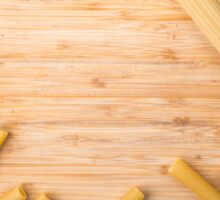 Top view food background made of thin spaghetti and pasta Sticker