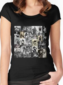 Monsters Carrying Women Women's Fitted Scoop T-Shirt