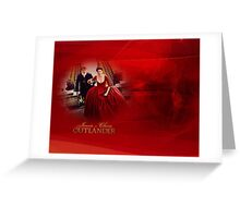 Jamie & Claire (red dress)in red swirls and light. Greeting Card