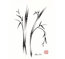 """Morning""  sumi-e brush pen bamboo drawing/painting Photographic Print"