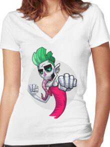 Skrumps K.O. Women's Fitted V-Neck T-Shirt