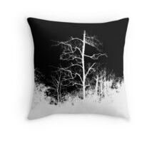 Dark Night - Forest Themed Background Throw Pillow