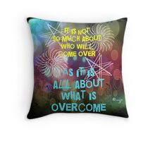 What Is Overcome Throw Pillow
