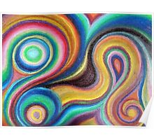Swirly Colors Poster