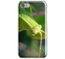 Grasshopper eyes iPhone Case/Skin
