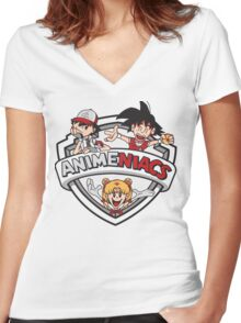 Animeniacs Women's Fitted V-Neck T-Shirt