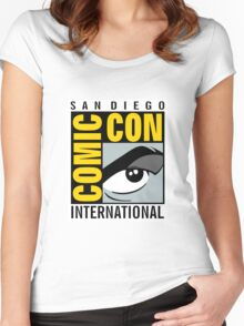 Comic Con No Border Women's Fitted Scoop T-Shirt