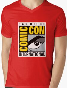 Comic Con No Border Mens V-Neck T-Shirt
