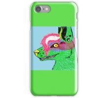 colorful 2 eyed wolf iPhone Case/Skin
