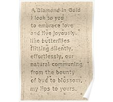 """A Diamond in Gold"" by Ron Frannea Poster"