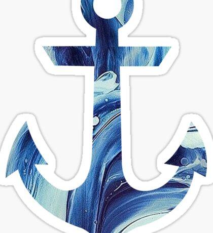 anchor - blue marble Sticker