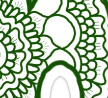 zentangle h: green  Sticker