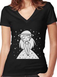 star girl Women's Fitted V-Neck T-Shirt