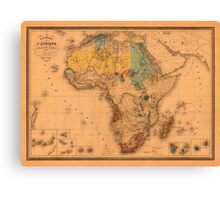 Map Of Africa 1880 Canvas Print