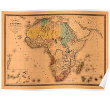 Map Of Africa 1880 Poster