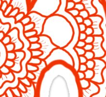 zentangle h: orange  Sticker
