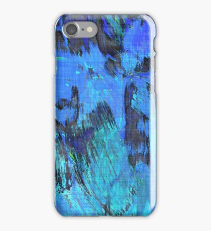 Paint, Blue (Texture, Background) iPhone Case/Skin