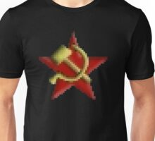 Pixel Art Hammer and Sickle with Red Star Unisex T-Shirt