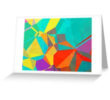 Graphic Polygons (Wallpaper, Background) Greeting Card