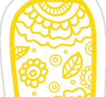 zentangle i: yellow  Sticker