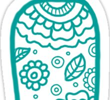 zentangle i: blue  Sticker