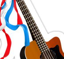 Acoustic Bass Guitar Sticker
