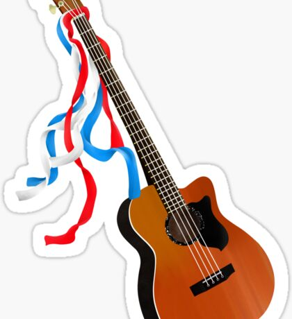 Acoustic Bass Guitar Sticker