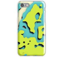 Graphic, Cut Out, Green (Wallpaper, Background) iPhone Case/Skin