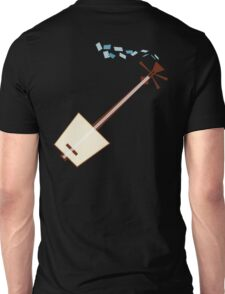 While My Shamisen Gently Weeps (blue) Unisex T-Shirt
