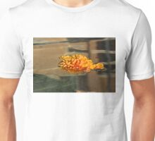 Jewel Drops - Orange Chrysanthemum Bloom Floating in a Fountain Unisex T-Shirt