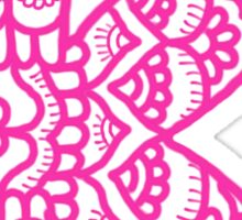 zentangle k: pink  Sticker