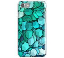 Graphic Boxes, Light Blue (Wallpaper, Background) iPhone Case/Skin