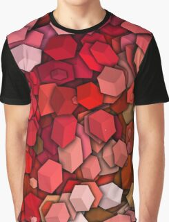 Graphic Boxes, Red (Wallpaper, Background) Graphic T-Shirt