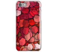 Graphic Boxes, Red (Wallpaper, Background) iPhone Case/Skin