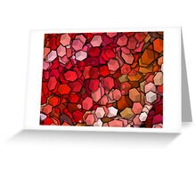 Graphic Boxes, Red (Wallpaper, Background) Greeting Card