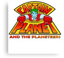 CAPTAIN PLANET AND THE PLANETEERS RETRO CLASSIC CARTOON  Canvas Print