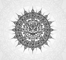 Owl Mandala-thingy by ArtByIzzy