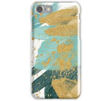 Emerald green abstract brush painting iPhone Case/Skin