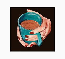 Hands Around A Mug Contemporary Acrylic On Paper Painting Brown Edit Unisex T-Shirt