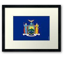 New York State Flag Framed Print