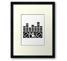 Equalizer DJ Vinyls Framed Print