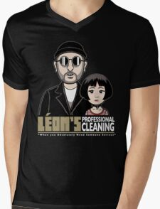 LEON's Professional Cleaning Mens V-Neck T-Shirt