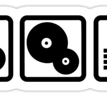 DJ Equalizer headphones vinyl Sticker