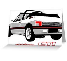 Peugeot 205 CTI cabriolet white Greeting Card