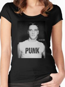 Elvis is a Punk Women's Fitted Scoop T-Shirt
